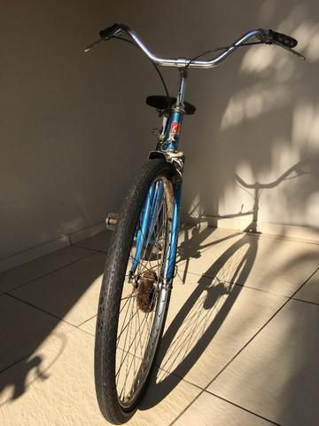 Bicicleta Peugeot - Aro 26 - Azul - Ótimo Estado - Antiga - Foto 5