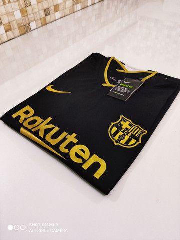 Camisa Barcelona Reserva Nike 20/21 - Tamanhos: P, M, G - Foto 4