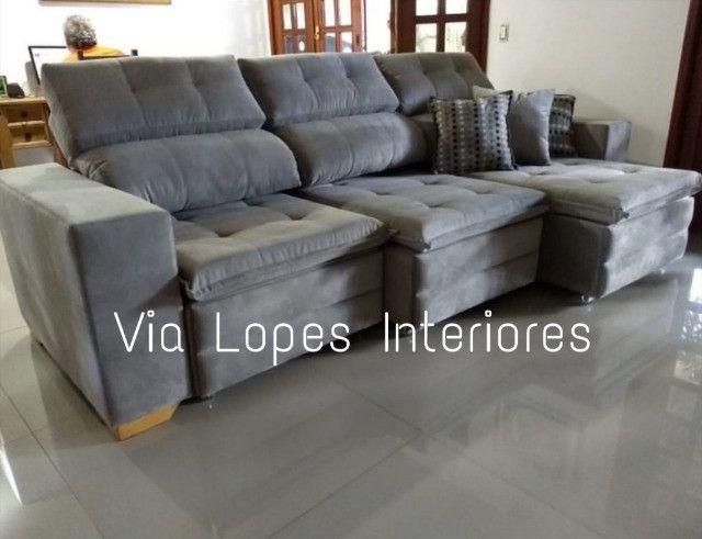 Mesa de 1.90 ctm com oito cadeiras area estofadas aqui no Via Lopes wpp 62 9  * - Foto 3