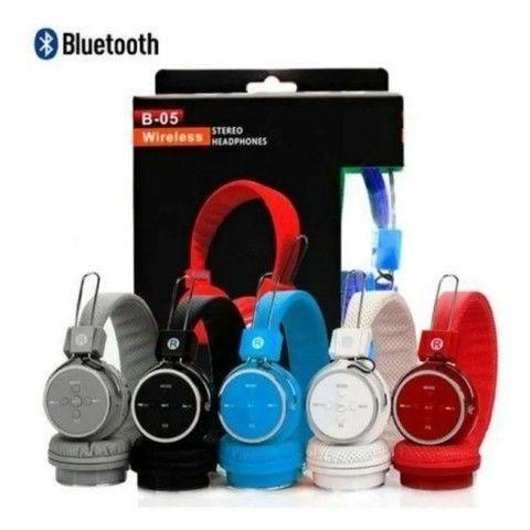 Fone de ouvido Bluetooth headphone sem fio