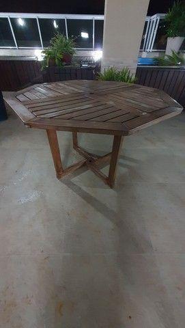 Mesa sextava madeira para jardim - Foto 2