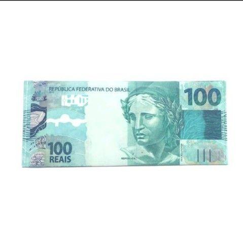 Carteira Estampada de Notas Estrangeiras Dólar/ Euro/ Real Guardar Cédulas Documentos