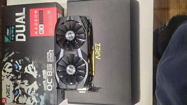 Placa de vídeo asus  RX 580 OC, 8gb, gddr5 - dual--o8GB - Foto 3