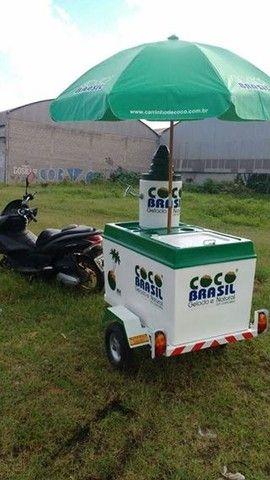 Carretinha de moto para água de coco - Foto 2