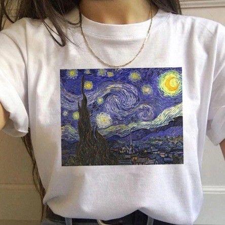 Camisa Camiseta Vicent Van Gogh Baby Look