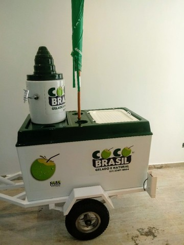 Carretinha de moto para água de coco - Foto 4