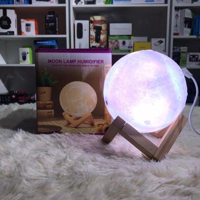 Difusor Umidificador 880ml Luminária 13cm Abajur Lua 3D