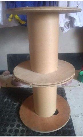 Carretel bobina de madeira compensado para artesanato