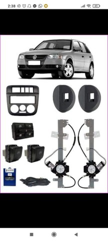 Kit De Vidro Eletrico Gol G4 Completo 4 Portas 2006 A 2014<br><br>