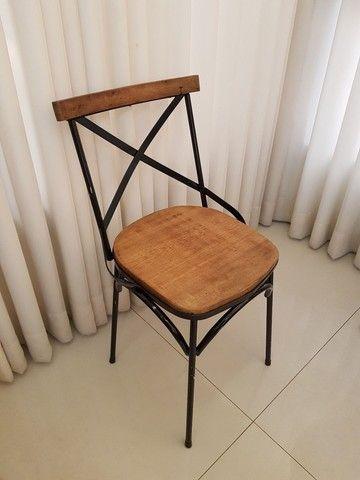 Cadeira Vintage X Rústica  - Foto 3