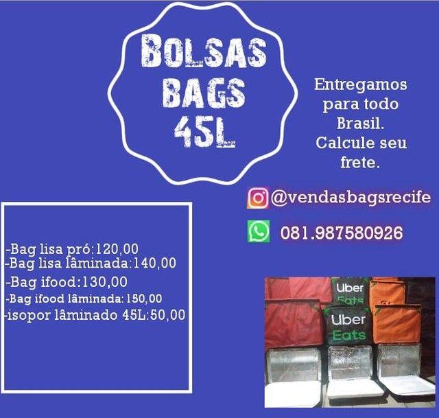 Mochilao deliverys com isopor 45 litros