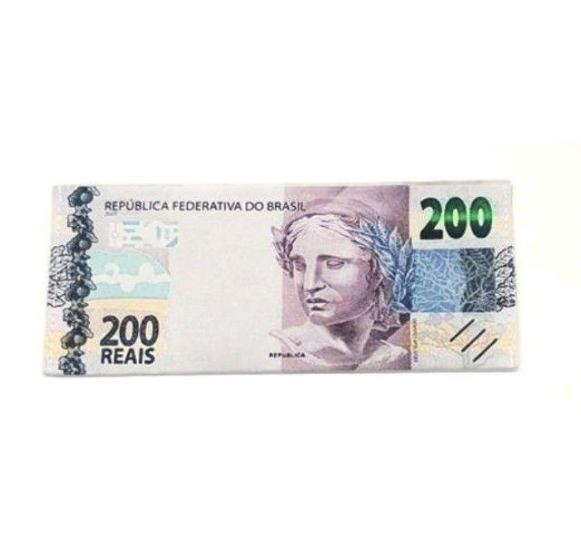 Carteira Estampada de Notas Estrangeiras Dólar/ Euro/ Real Guardar Cédulas Documentos  - Foto 3