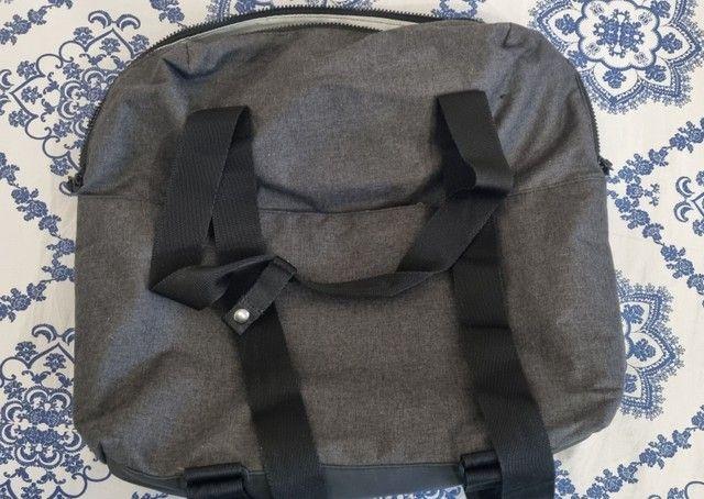 Bolsa / mochila para academia adidas com lugar para notebook cinza em lona  - Foto 2
