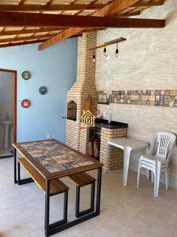 JR-Linda casa lado praia, com 3 quartos área gourmet e piscina. - Foto 5