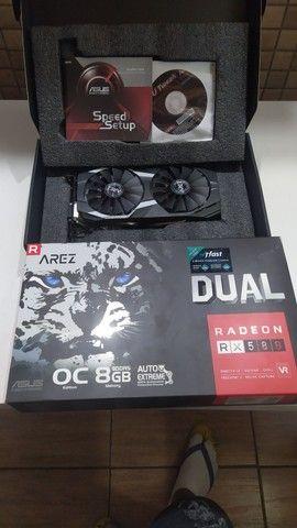Placa de vídeo asus  RX 580 OC, 8gb, gddr5 - dual--o8GB