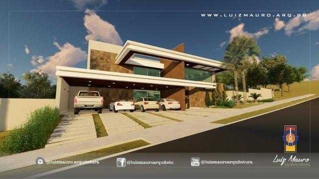 Condomínio Florais dos Lagos, casa Sobrado com 4 suites, em fase de construção