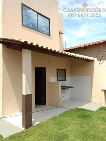 Casa duplex nova no centro do eusebio, 162 metros, 3 suítes, apenas 350 mil pra fechar - Foto 11