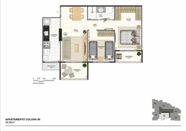 Apartamento 02 Quartos, Bairro Riviera, Lançamento na Planta - Foto 7