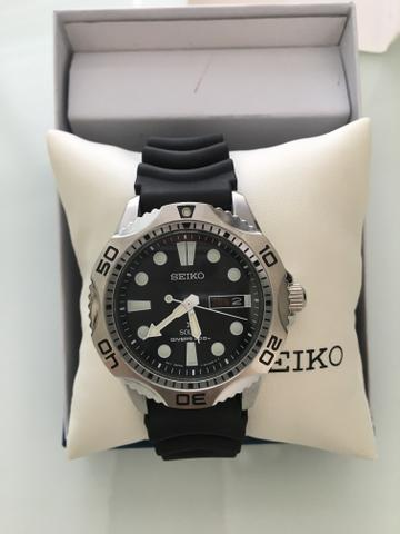 434c0494420 Relógio Seiko Divers 200m Solar 42mm - Bijouterias