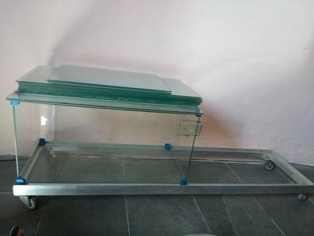 Estante De Vidro Temperado : Vendo peças de vidro temperado de estante móveis alto da serra