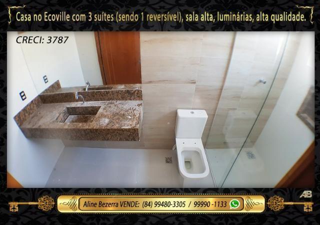 Financia, casa com 3 suítes no Ecoville, sombra, alta qualidade, venha conhecer - Foto 10