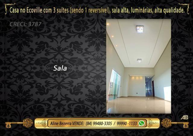 Financia, casa com 3 suítes no Ecoville, sombra, alta qualidade, venha conhecer - Foto 2