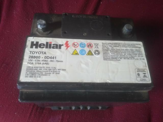 Bateria Heliar 45Ah usada boa 150,00 - Foto 3