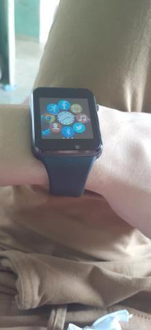Relógio smartwatch A1 original touch bluetooth gear chip - preta - Foto 2