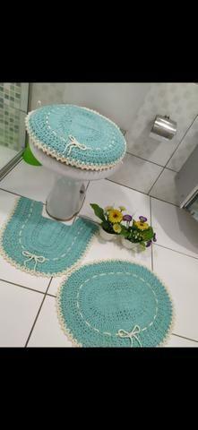 Jogo de banheiro em crochê - Foto 3