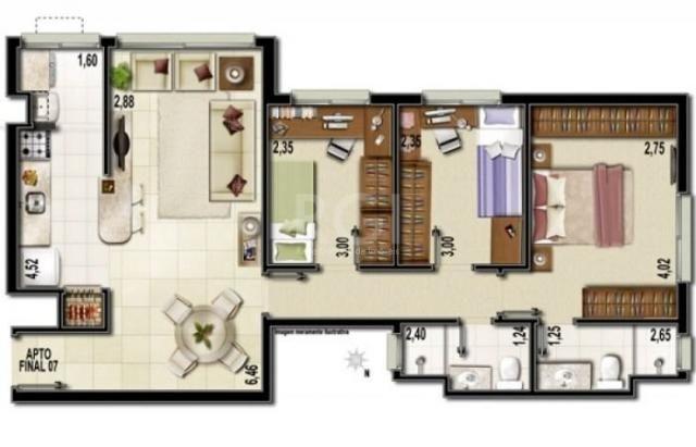 Apartamento à venda com 3 dormitórios em Partenon, Porto alegre cod:EV4504 - Foto 12