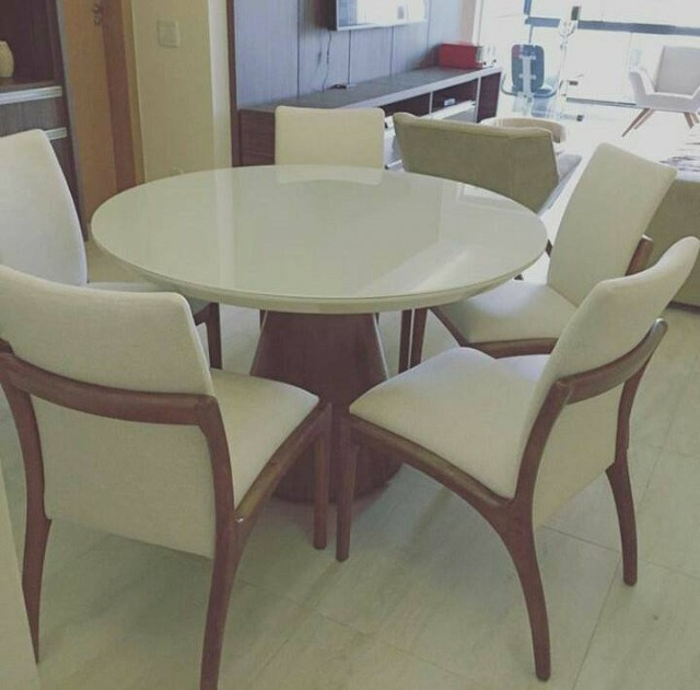 Mesa de 1.90 ctm com oito cadeiras area estofadas aqui no Via Lopes wpp 62 9  * - Foto 2