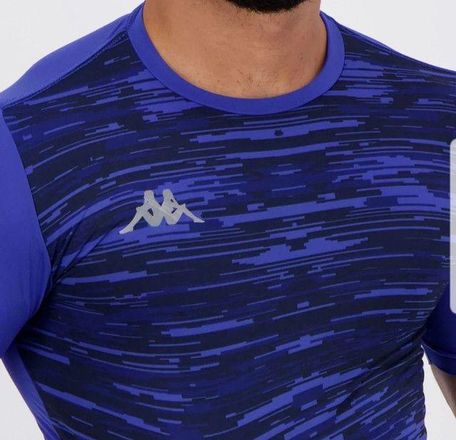 Camiseta térmica Kappa azul - Foto 3