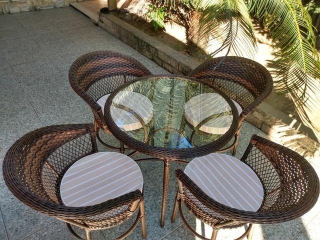 Conjunto de varanda fibra sintetica - varanda e jardim