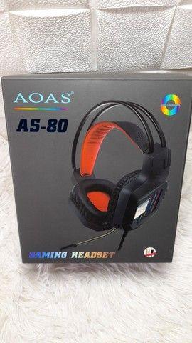 Headset gamer com luz de led e microfone flexível/ Preço Imbatível  - Foto 4