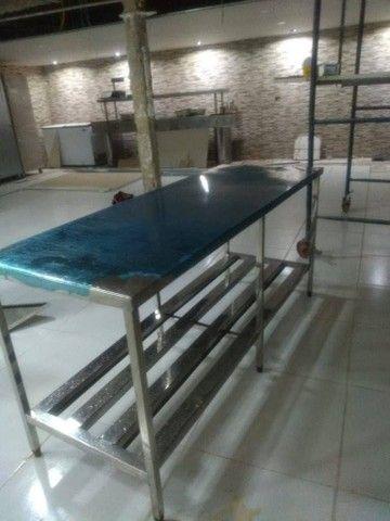 Mesa inox fabricada sobre medida - Foto 3