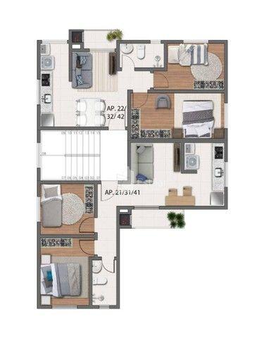 Apartamento 02 quartos no Boneca do Iguaçu, São José dos Pinhais - Foto 2