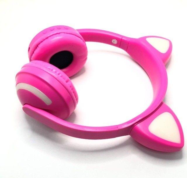 Headphone Orelha de Gato Led Bluetooth - Foto 6