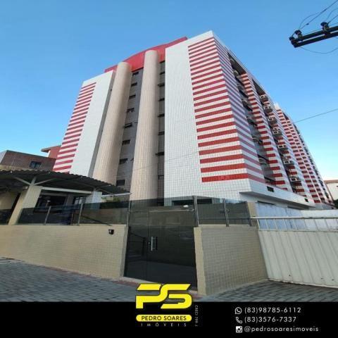 (ALUGO) Apartamento com 2 dormitórios para alugar, 67 m² por R$ 2.100/mês - Cabo Branco -