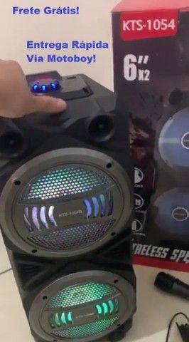 Caixa KTS 1054 Wireless + F. Karaokê (Super Potente 1000w)  Frete Grátis!