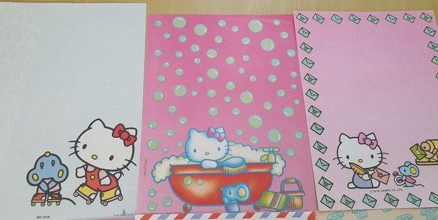 Coleção de Papel de Carta Hello Kitty 7 unidades - Foto 4