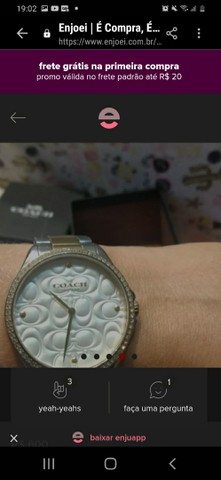 Vendo relógio COACH original tem 2 anos de garantia, e um petit coração rosa Pandora - Foto 5