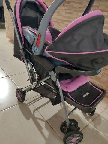 Carrinho de bebê c/ bebê conforto cosco - Foto 2