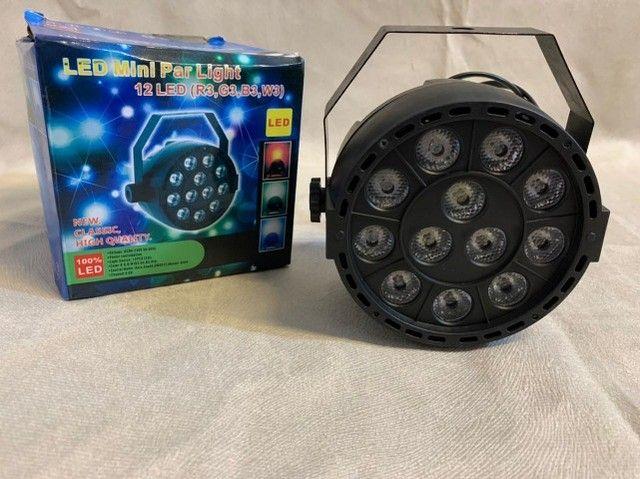 Led mini par light 12 leds ? Entrega grátis - Foto 3