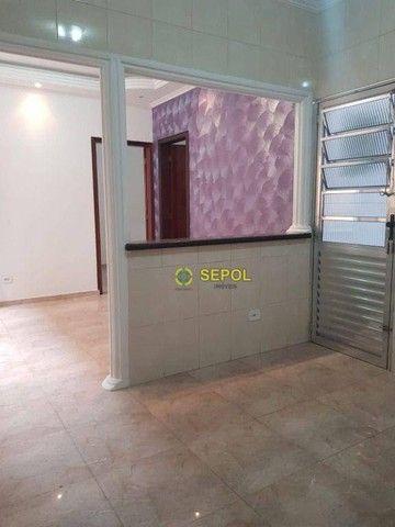 Casa com 2 dormitórios para alugar, 65 m² por R$ 950,00/mês - Jardim Egle - São Paulo/SP - Foto 2