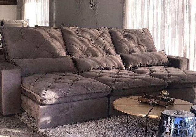 Sofás de luxo revestido na fibra - Foto 5