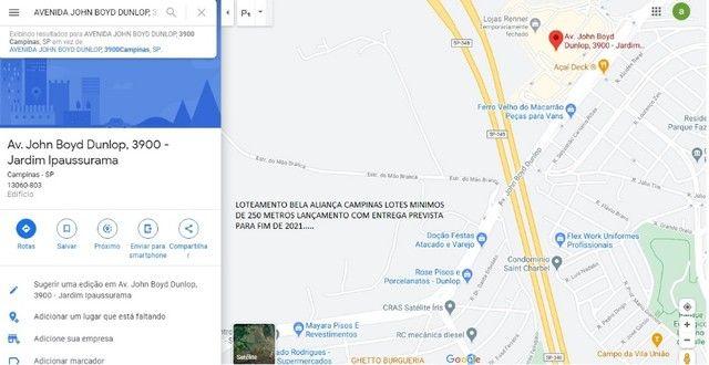 Terreno 250 metros Entrada só 8.423,42 mais 180 parcelas Campinas px ao Shopping - Foto 6