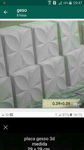 Placas de gesso 3d - Foto 2