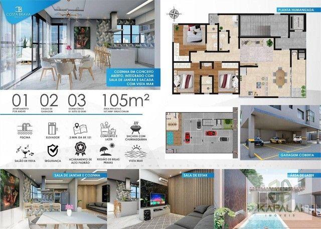 Apartamento com 3 dormitórios à venda, 105 m² por R$ 610.000 - Tabuleiro - Barra Velha/SC - Foto 8