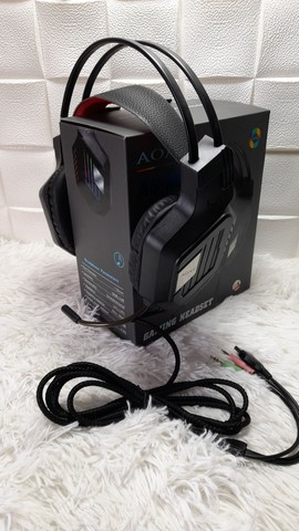 Headset gamer com luz de led e microfone flexível/ Preço Imbatível  - Foto 2