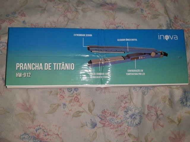 Prancha De Cabelo Inova Hw-912 Azul 110v/220v Alisa Bem<br>